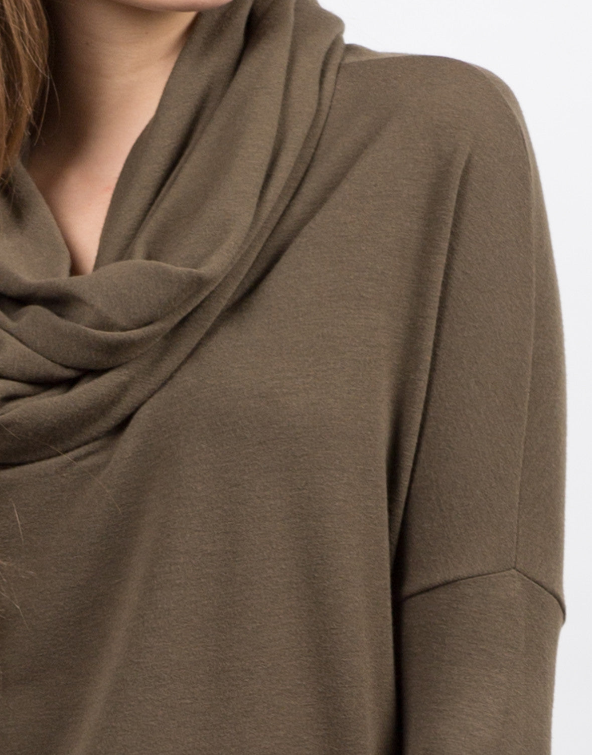 Detail of Super Soft Cowl Neck Top