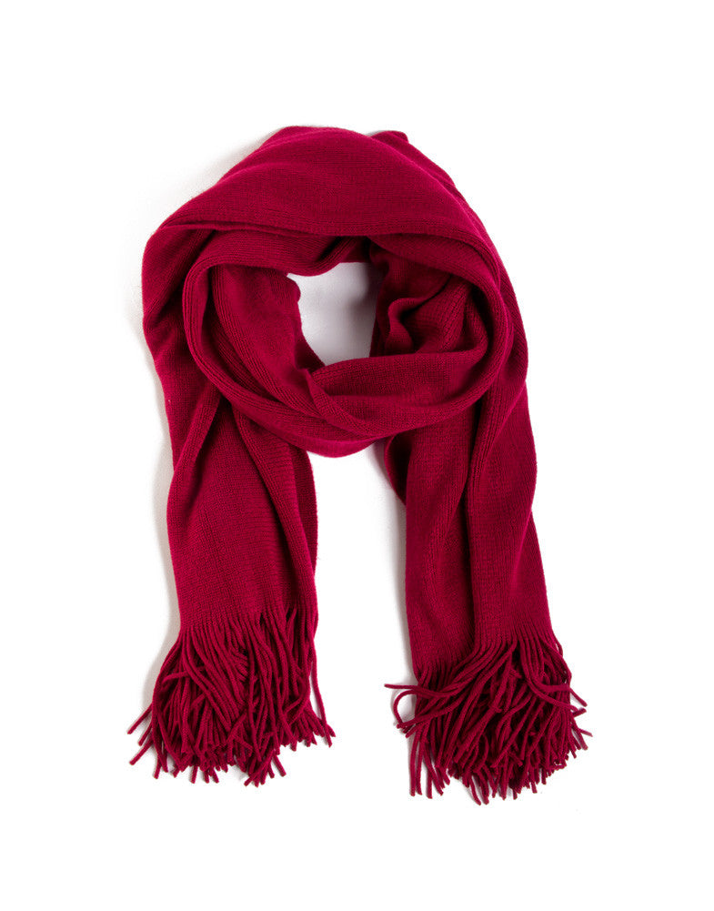 Super Soft Simple Scarf - Red