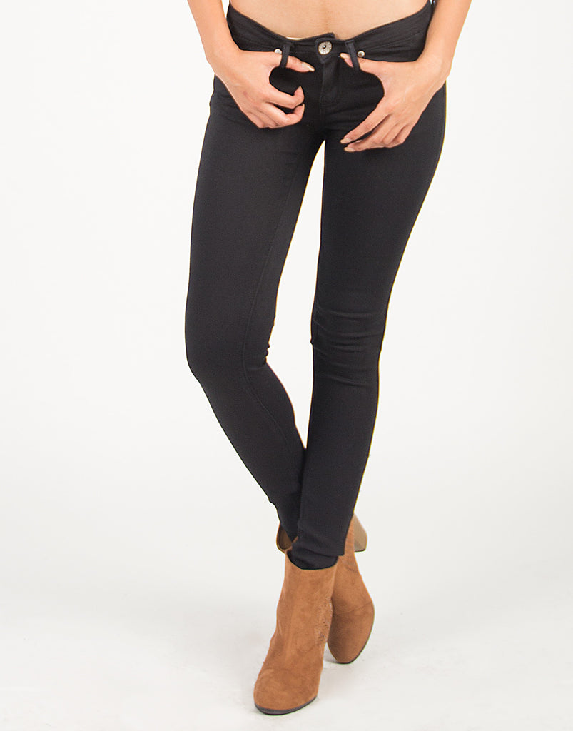 Super Stretchy Classic Black Skinny Jeans - 2020AVE