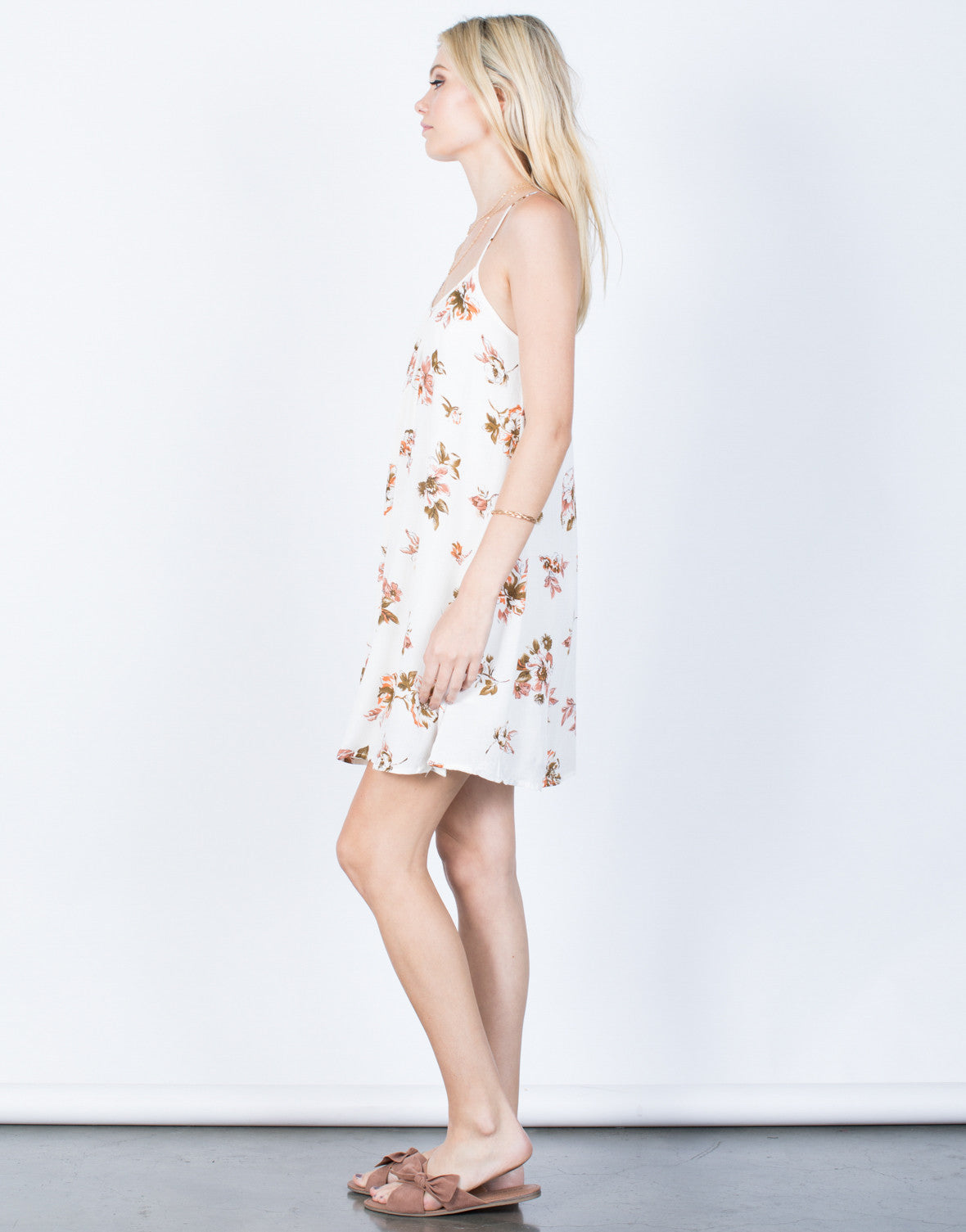 Side View of Sway with Florals Dress