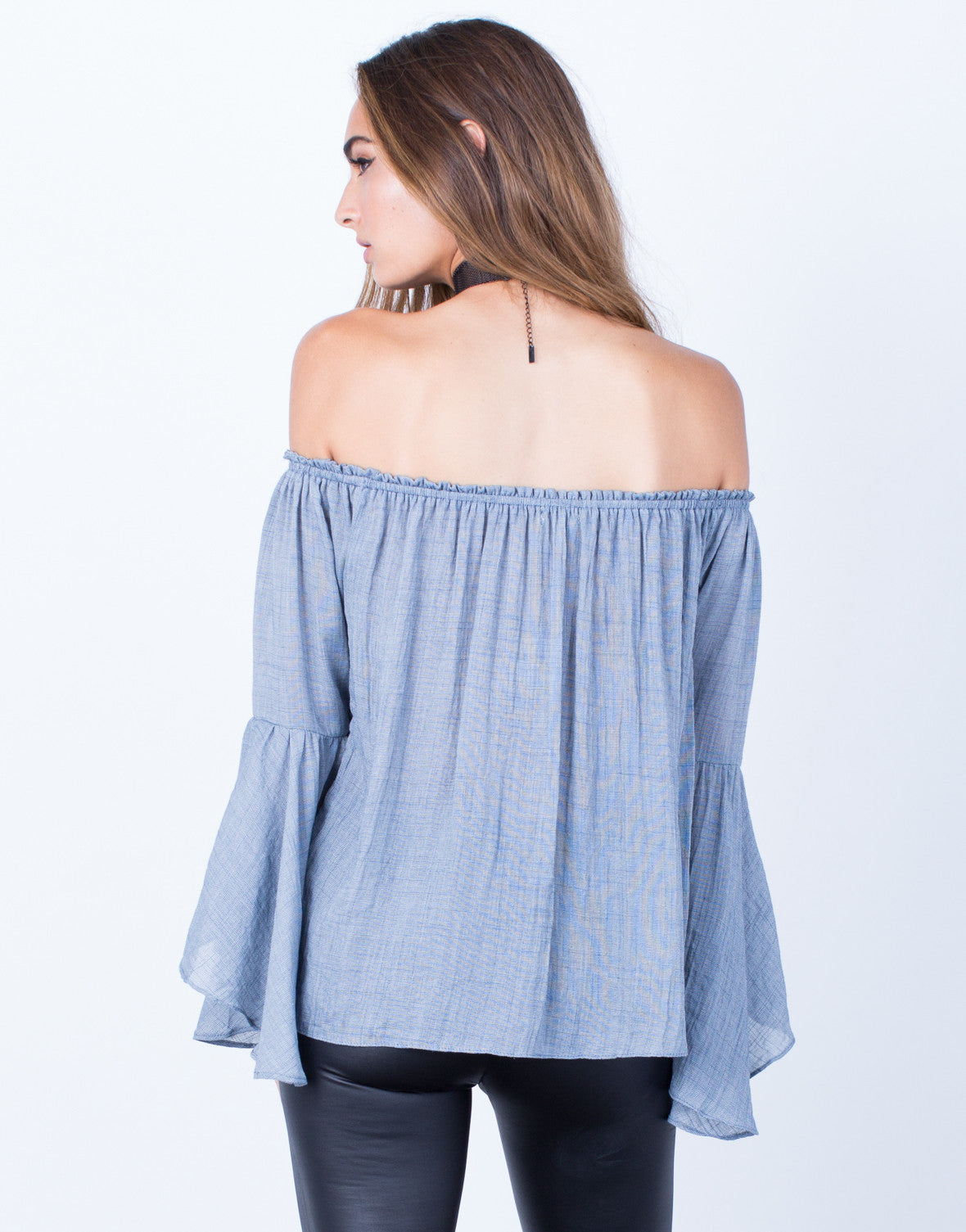 Back View of Sway with Me Blouse