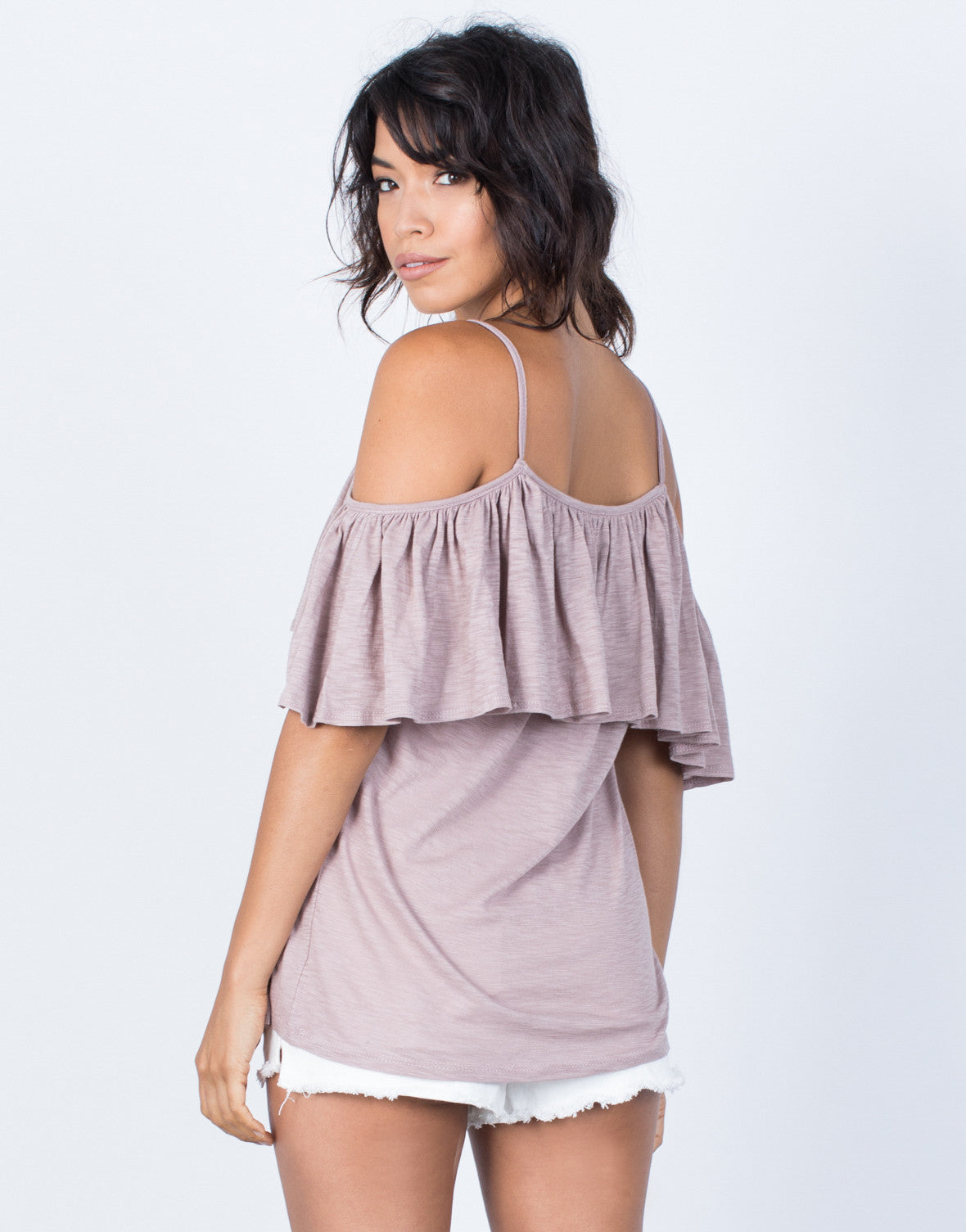 Back View of Sway with Ruffles Top