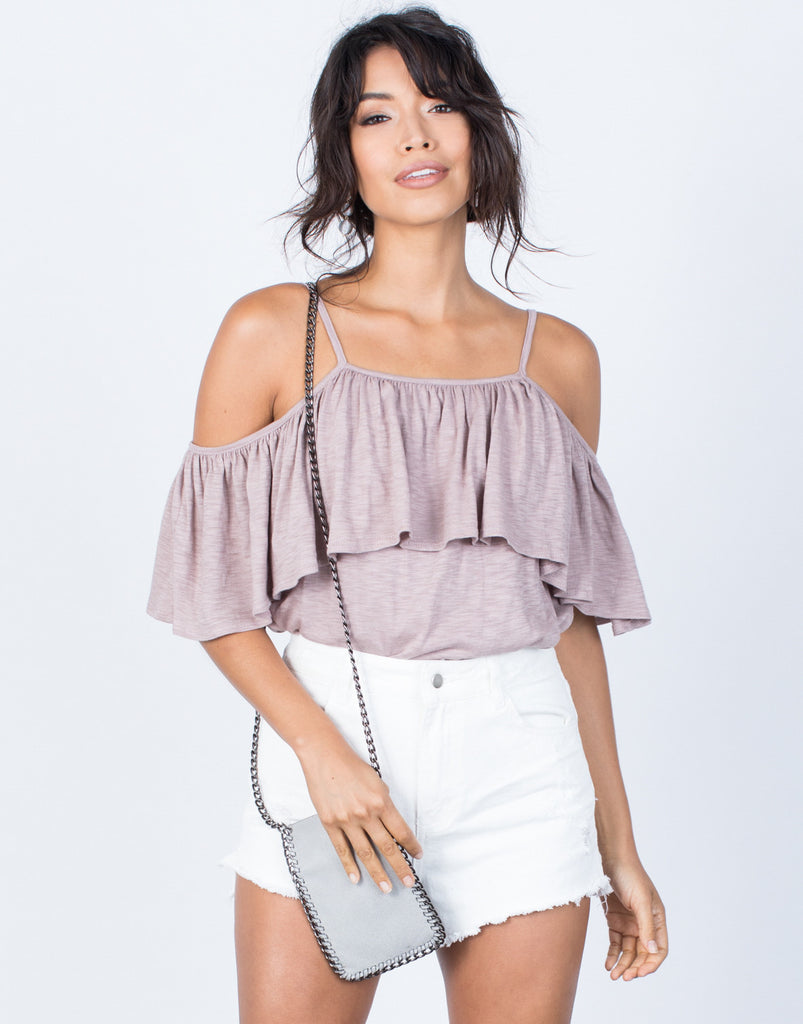 Front View of Sway with Ruffles Top