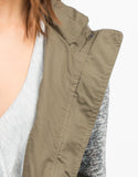 Detail of Sweater Contrast Utility Jacket