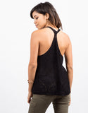 Back View of Sweater Knit Tank