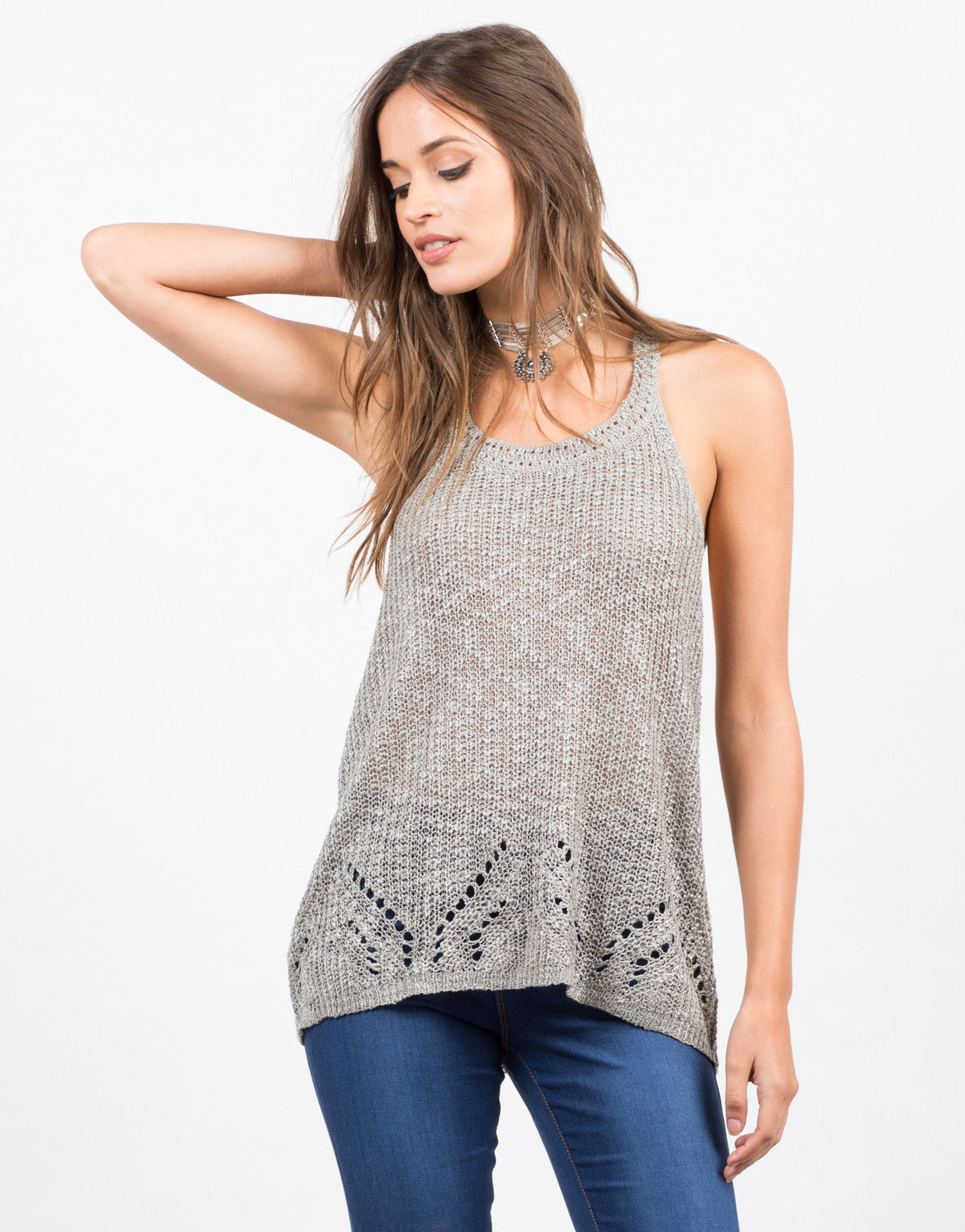 Front View of Sweater Knit Tank
