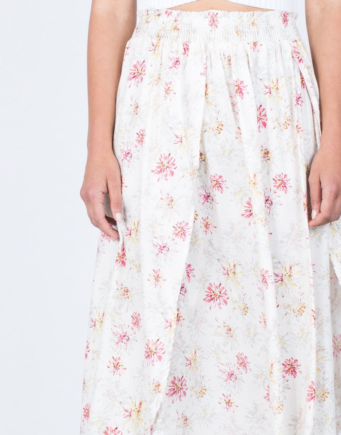Detail of Sweet Floral Maxi Skirt