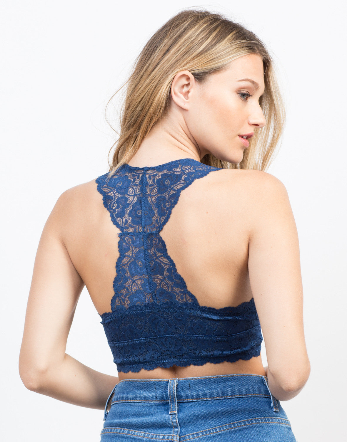Back View of Sweet Lacey Bralette