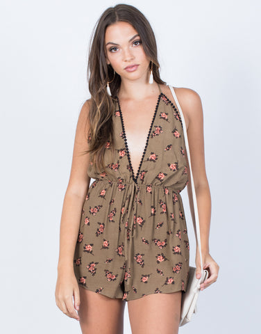 Sweetheart Floral Romper - 2020AVE