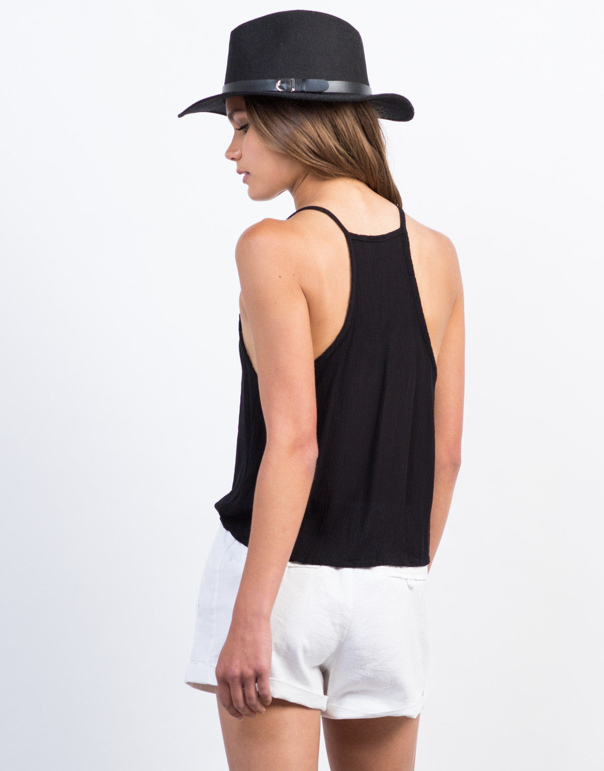 Back  View of Swing Gauze Cami Tank