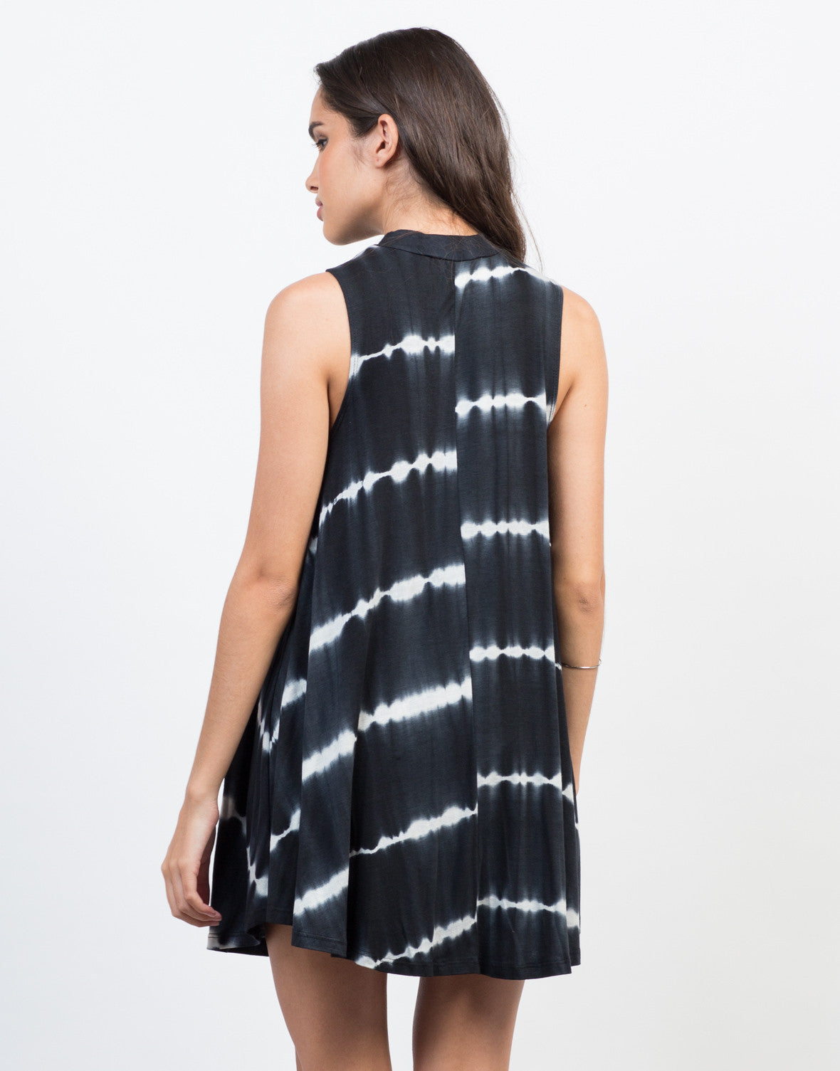 Back View of Swing into Tie-Dye Dress