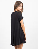 Back View of Swing It T-Shirt Dress