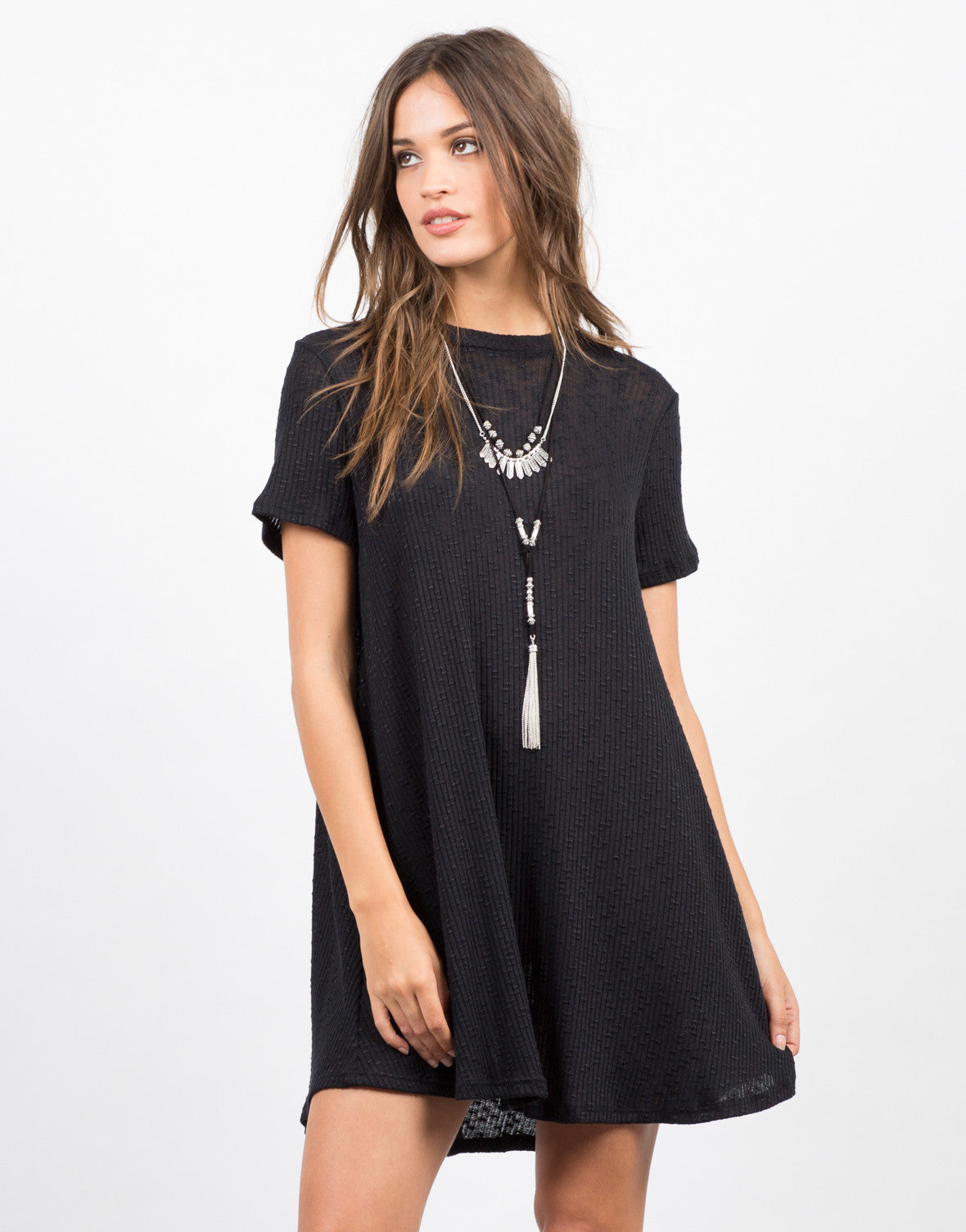 Front View of Swing It T-Shirt Dress