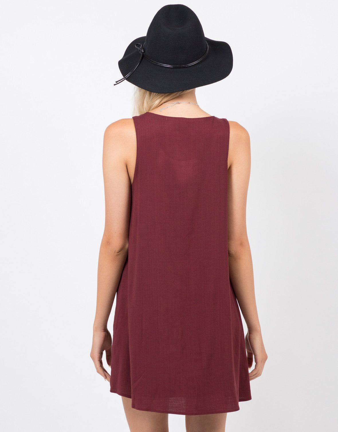 Back View of Swing Swing Dress