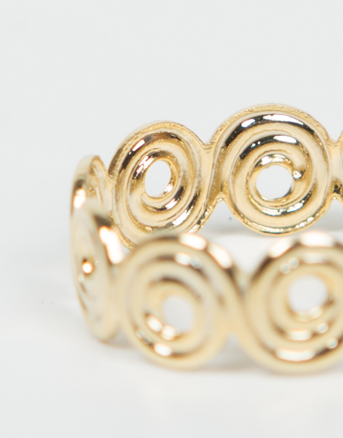 Detail of Swirly Knuckle Ring