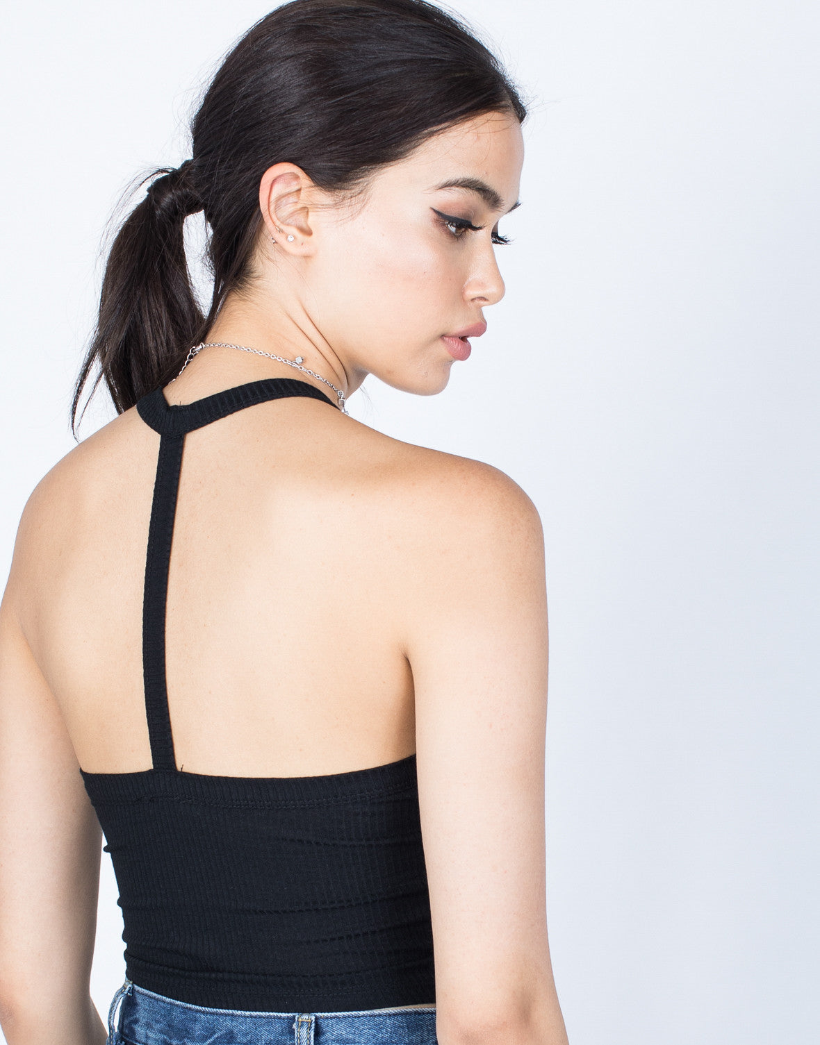Detail of T-Strapped Crop Top