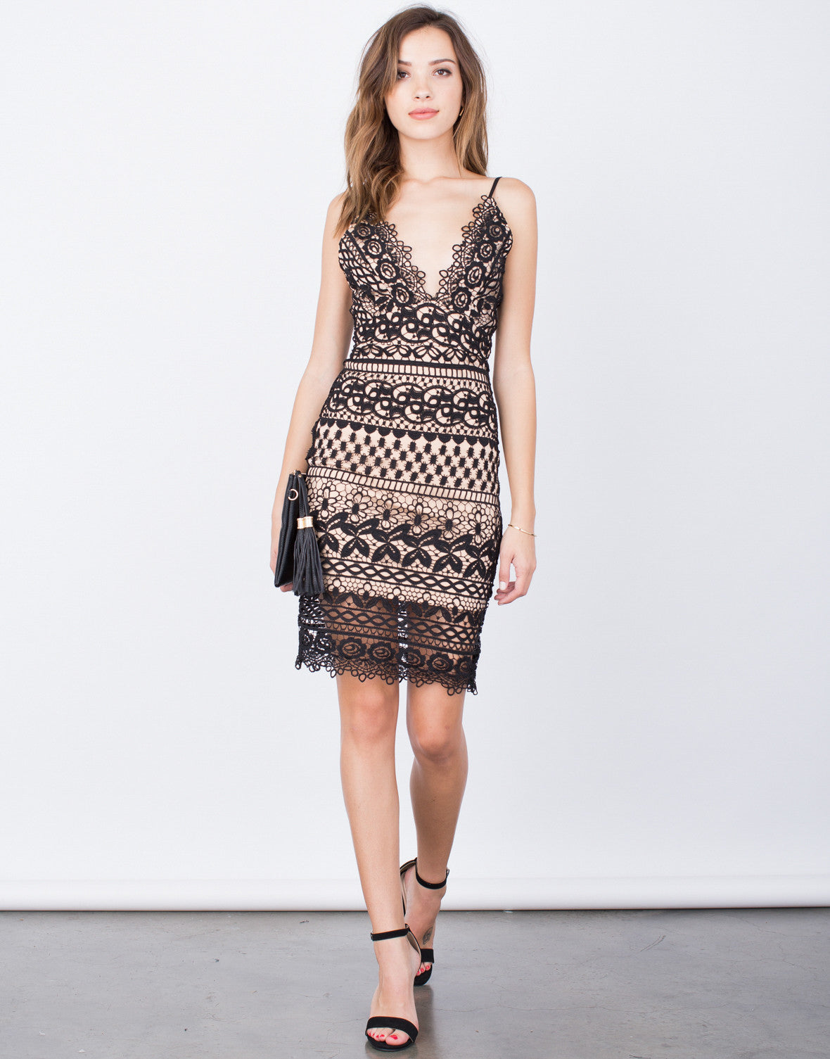 Front View of Take the Night Away Dress