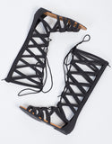 Tall Lace Up Gladiator Sandals