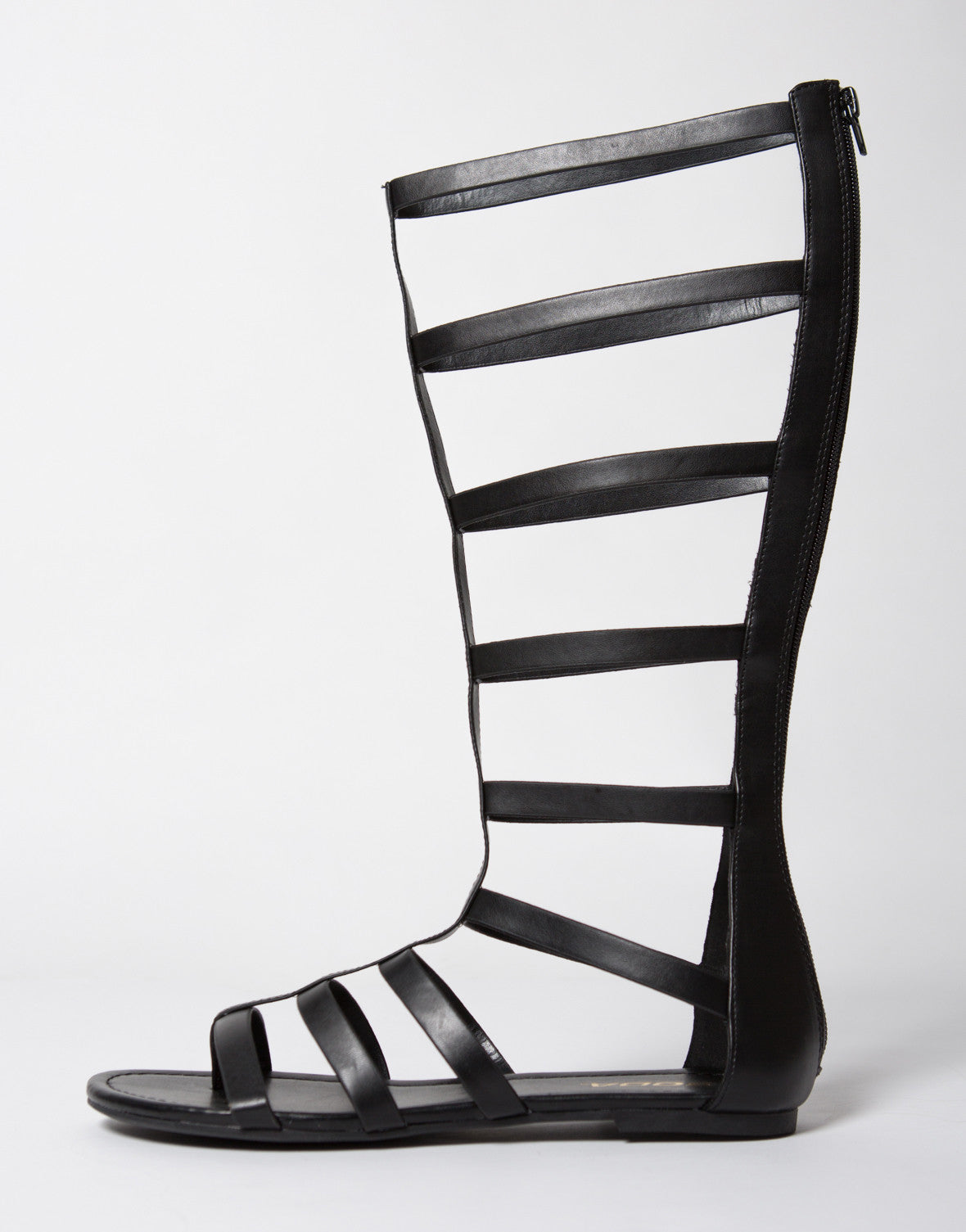 Tall Zippered Gladiator Sandals