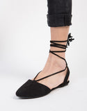 Tassel Lace-Up Flats