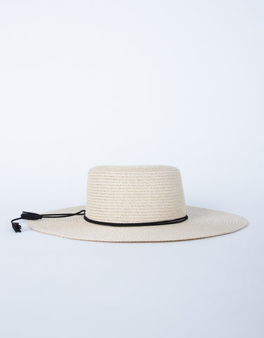 Tassel Tied Straw Hat