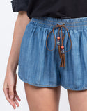 Detail of Tassel Denim Shorts
