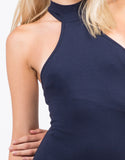 Detail of T-Back High Neck Midi Dress
