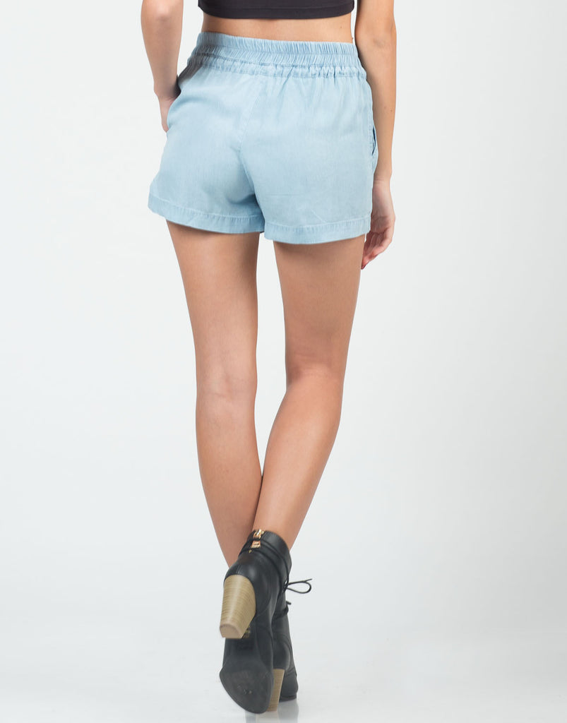 Tencel Chambray Shorts - 2020AVE