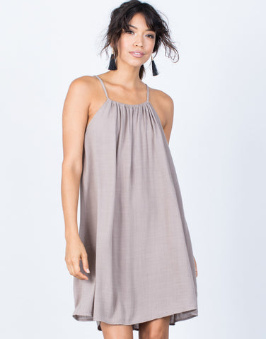 Taupe Teresa Cami Dress - Front View