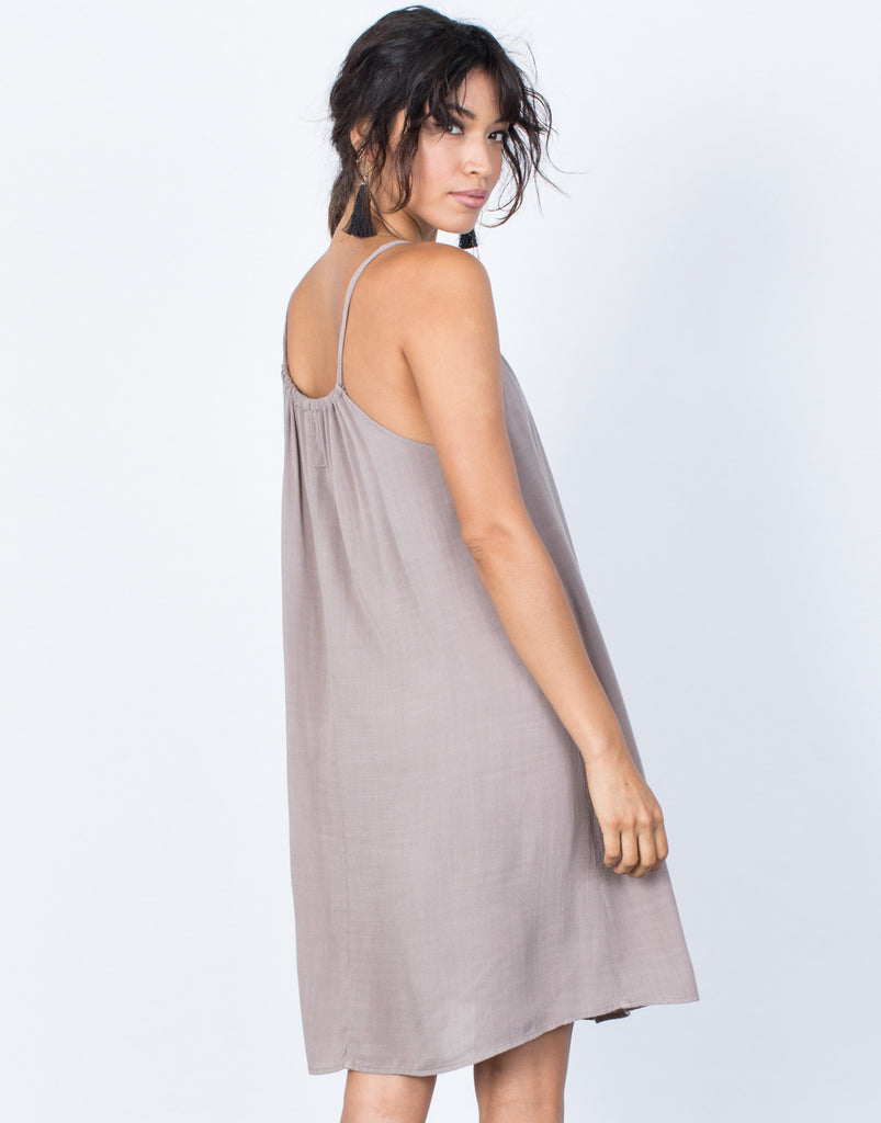 Taupe Teresa Cami Dress - Back View