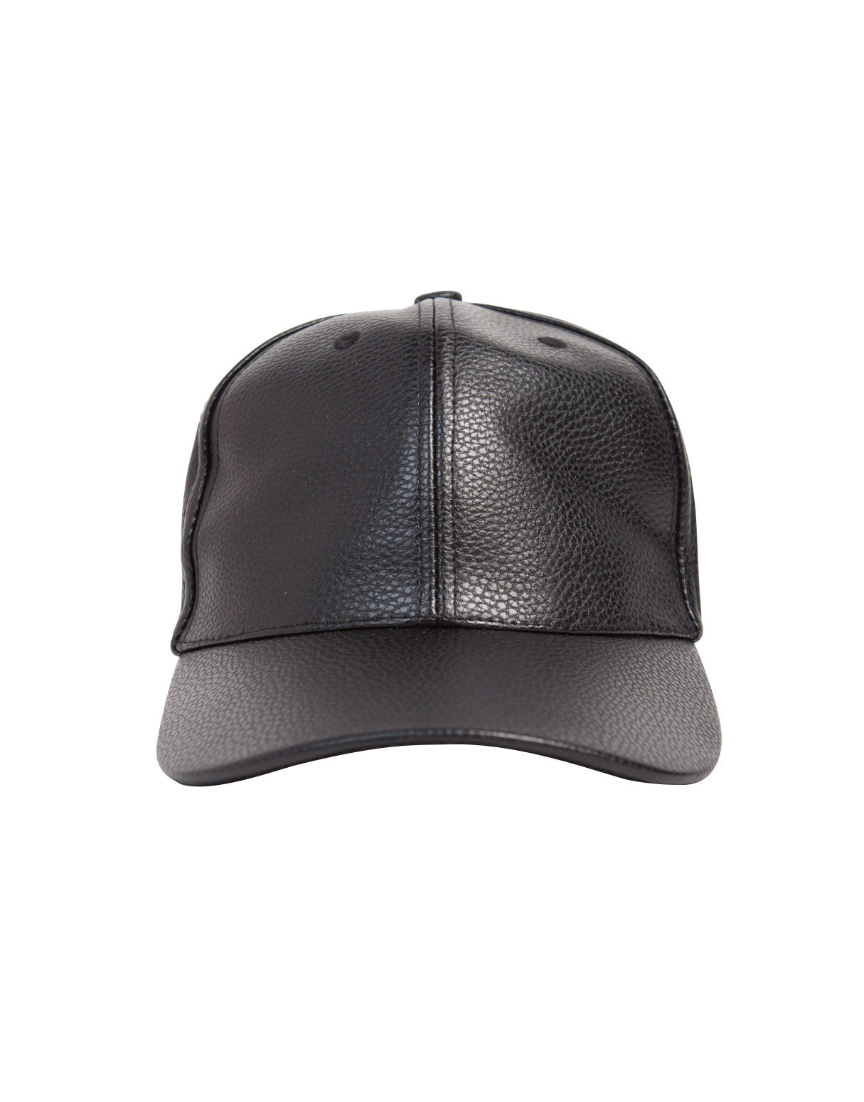 Textured Leather Baseball Cap