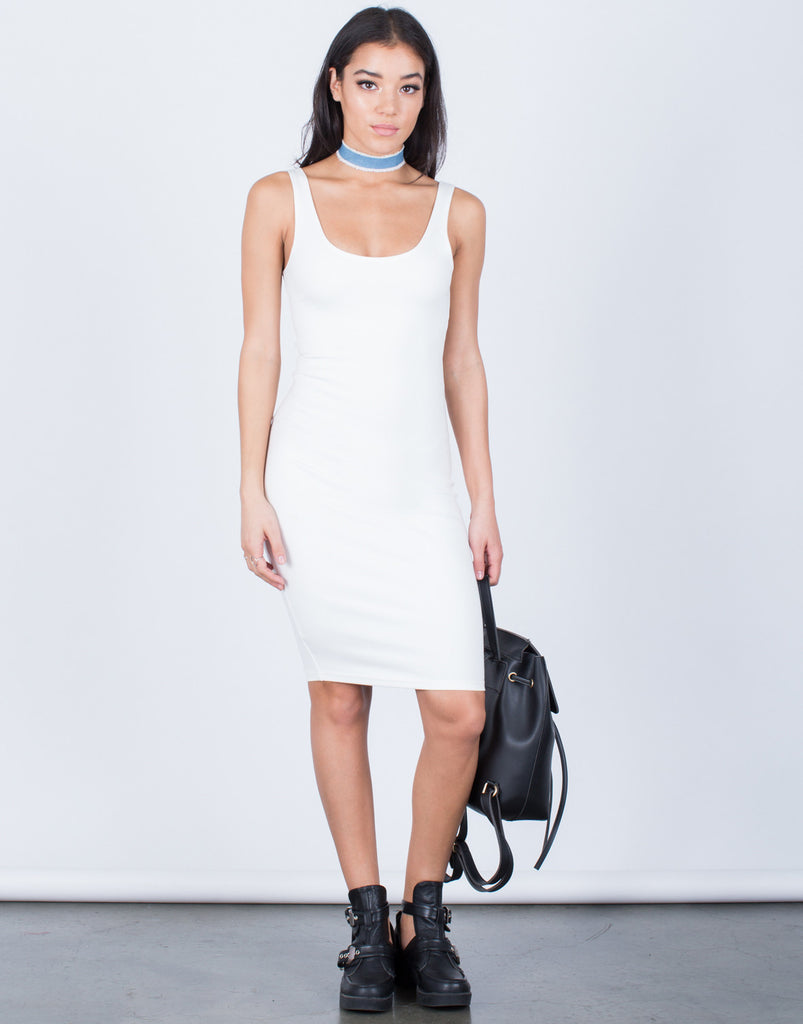 Front View of The Bodycon Dress