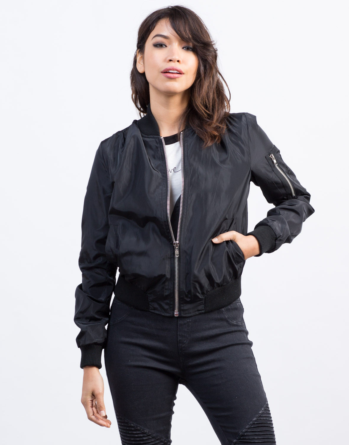 Front View of The Bomber Jacket