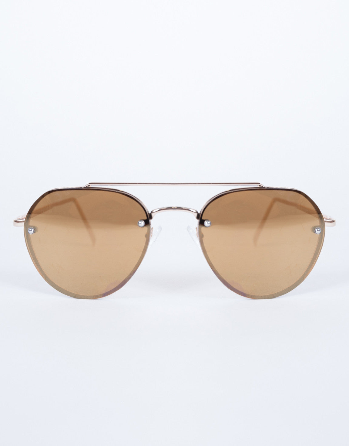 Brown The Cleo Sunnies - Front View