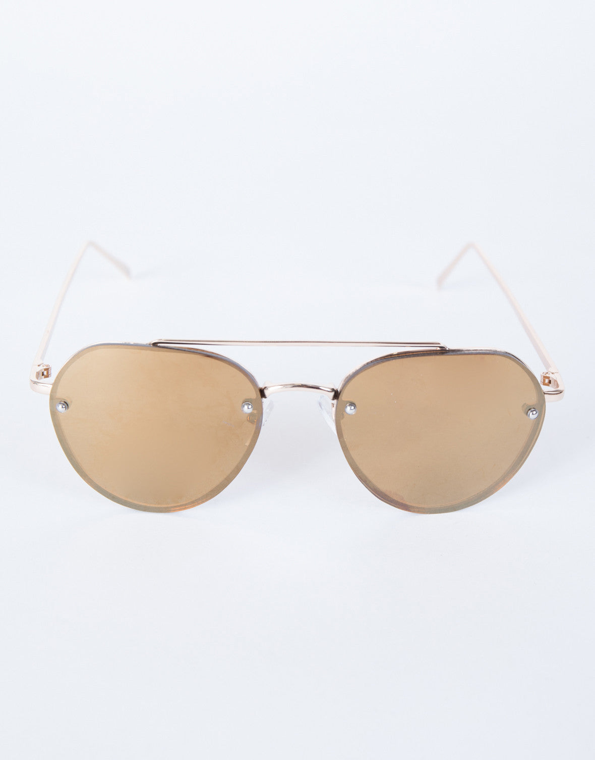 Brown The Cleo Sunnies - Top View