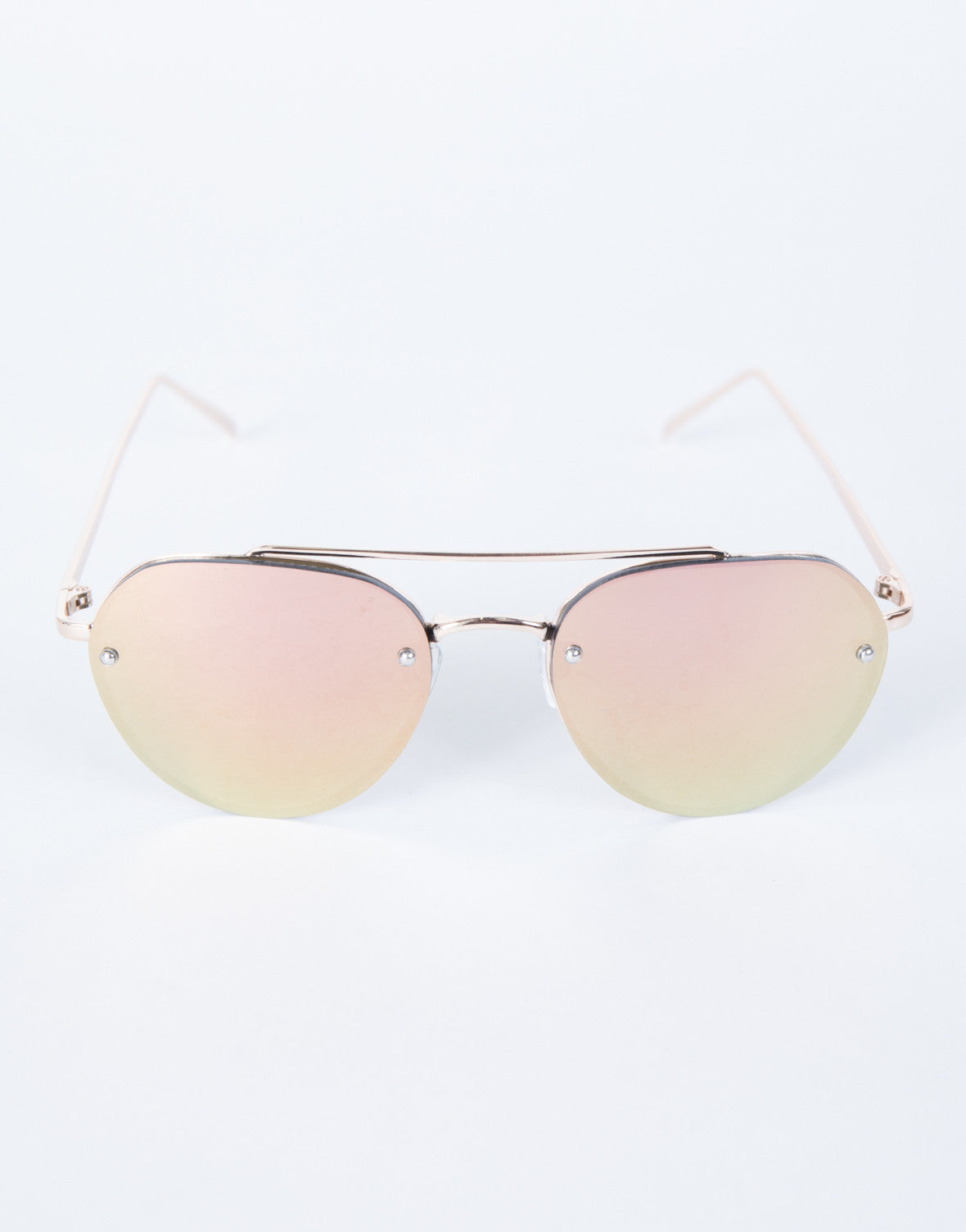 Rose Gold The Cleo Sunnies - Top View