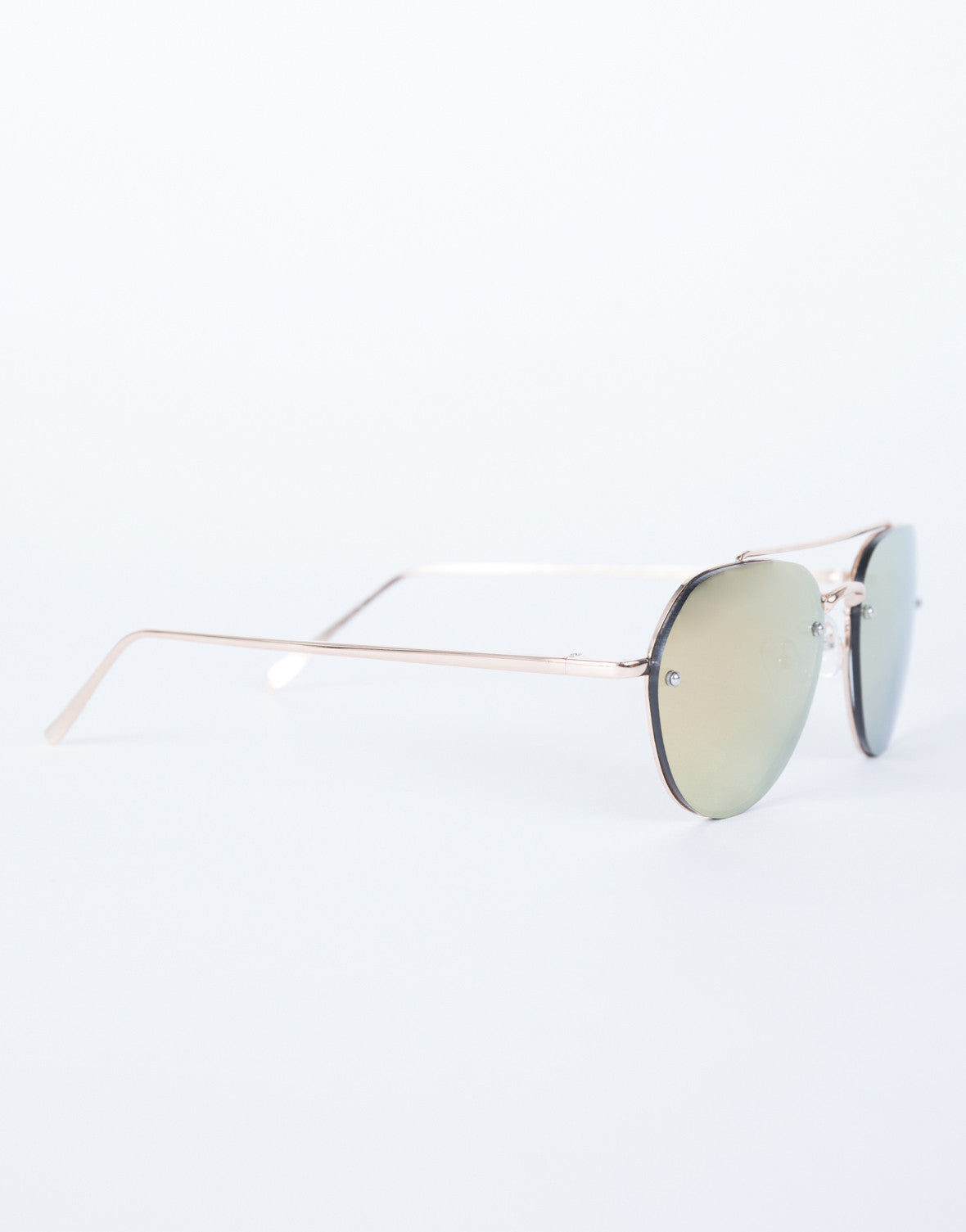 Rose Gold The Cleo Sunnies - Side View