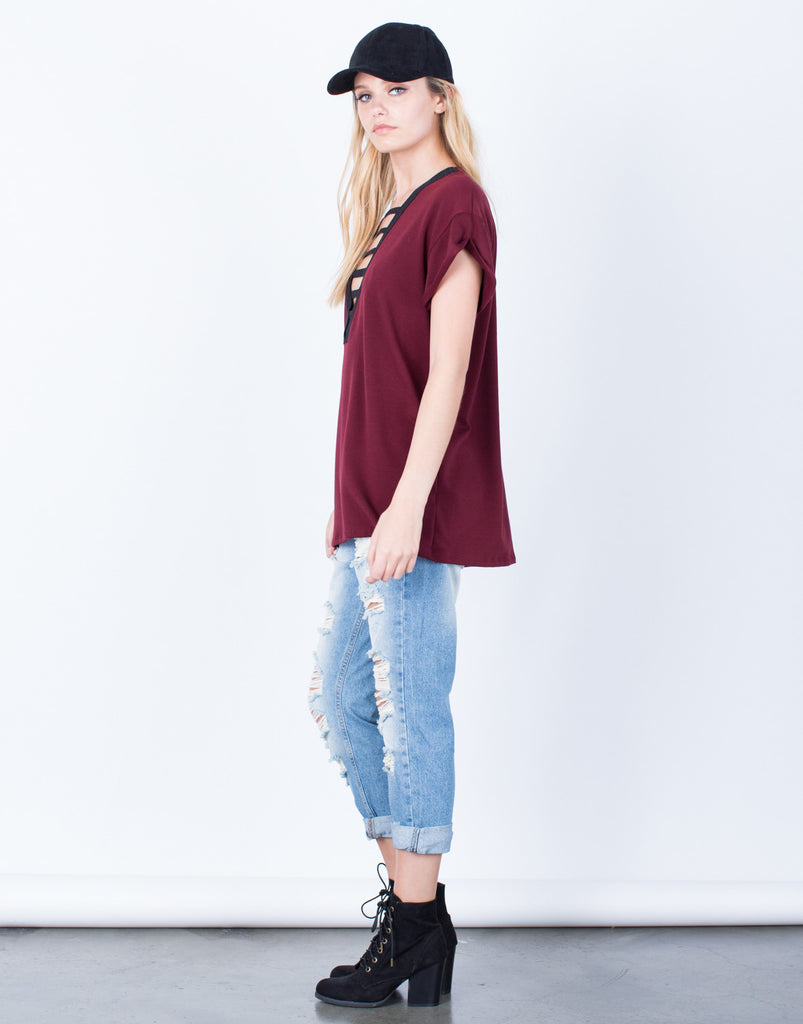 Side View of The Comfy Tunic