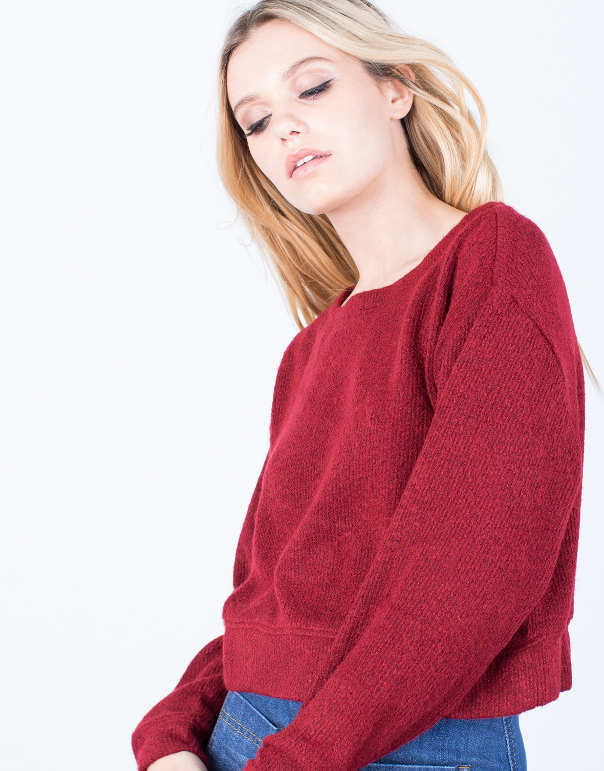 Detail of The Cropped Sweater
