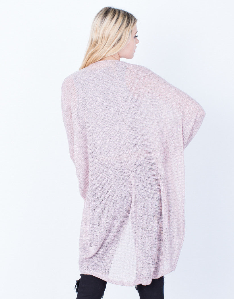 Back View of The Dolman Cardigan