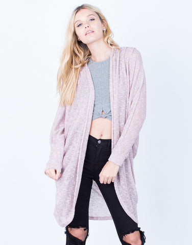 Front View of The Dolman Cardigan