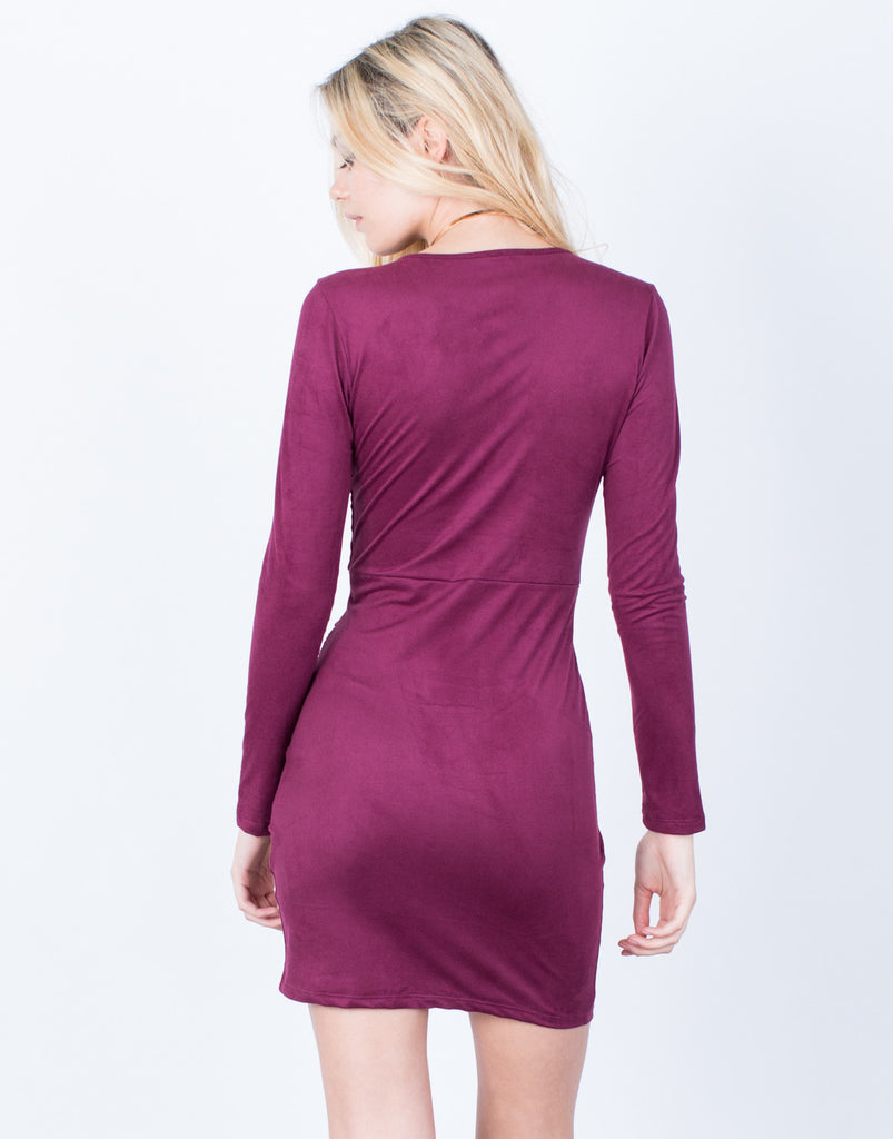 Back View of The Merlot Dress