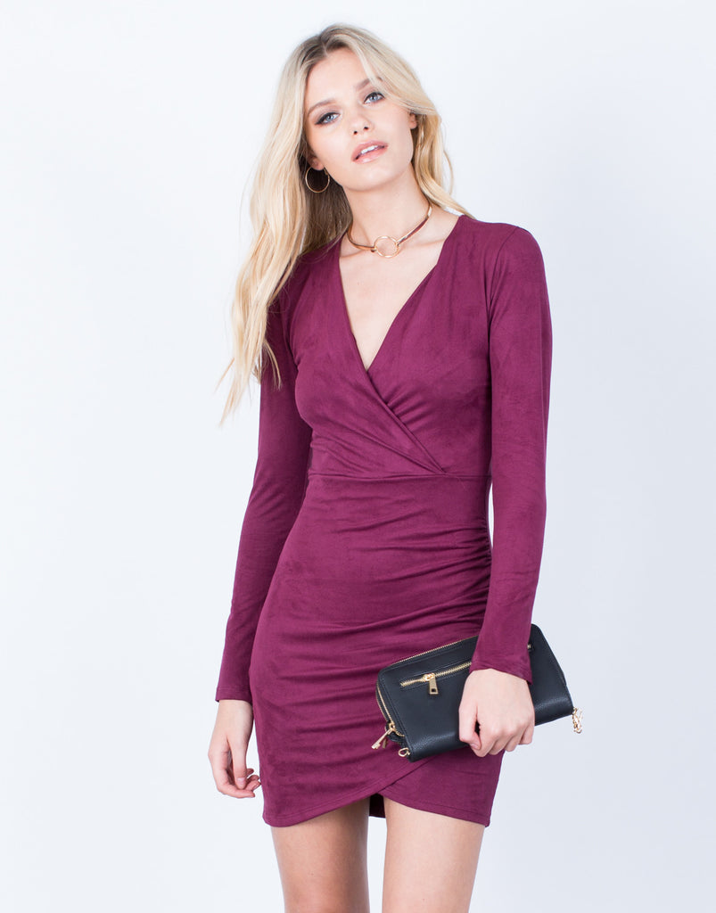 Front View of The Merlot Dress