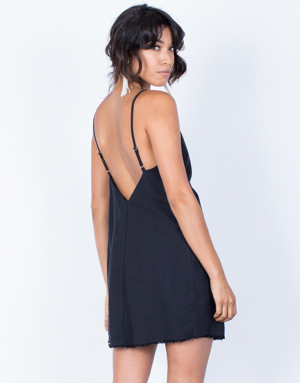 Back View of The Minimal Slip Dress