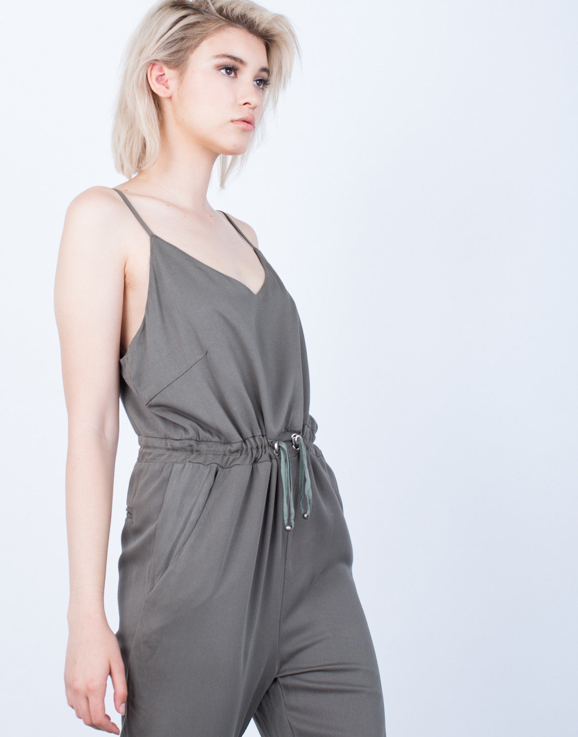 Detail of The Olive Jumpsuit