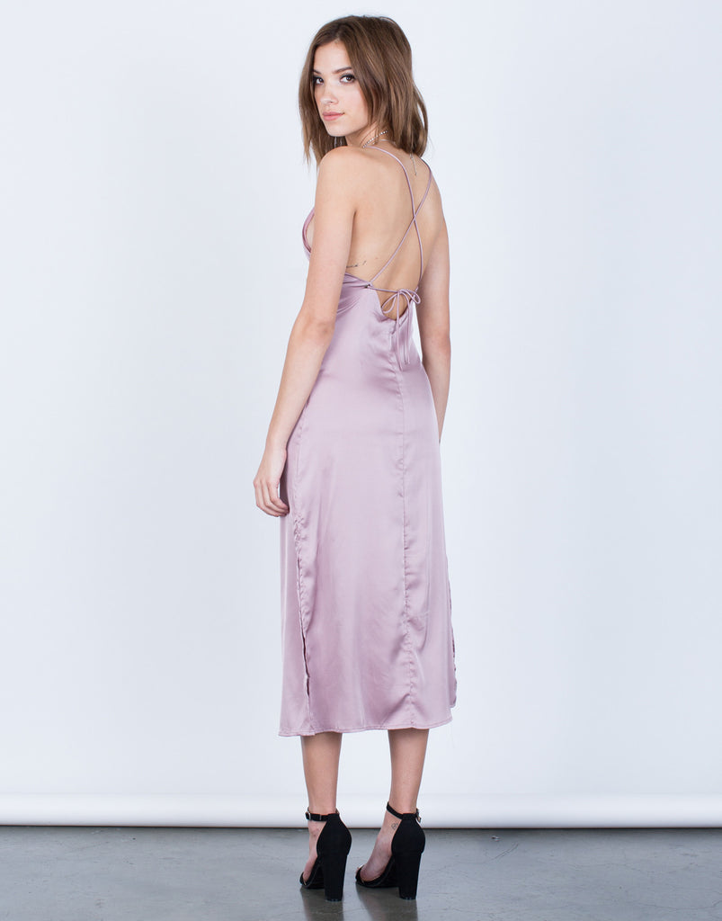 The Satin Midi Dress - 2020AVE