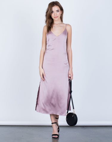 The Satin Midi Dress