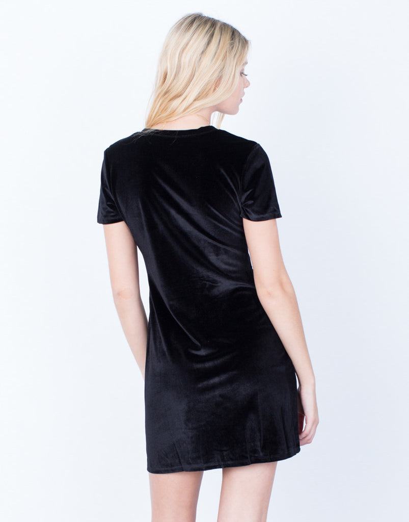 Back View of The Velvet LBD