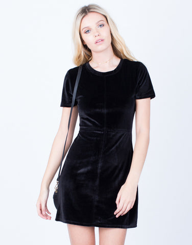 Front View of The Velvet LBD