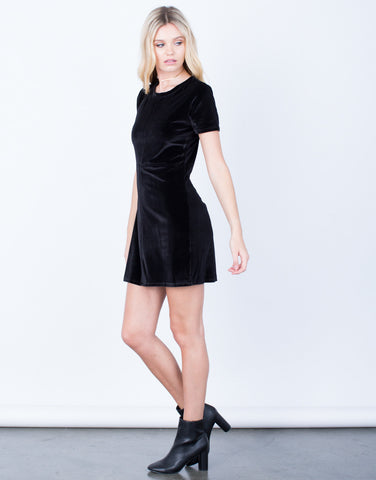 Side View of The Velvet LBD